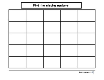 Missing Number Practice 1-25