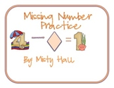 Missing Number Practice
