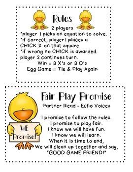 Missing Number Math {Chick-Tac-Toe Game}