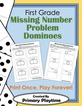 Missing Number Problem Dominoes
