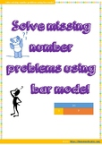 Missing Number Problems using bar model