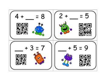 Missing Number QR Scan Task Cards