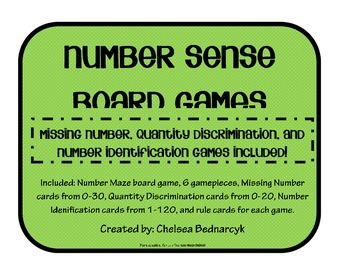 Missing Number, Quantity Discrimination, and Number Identification Games