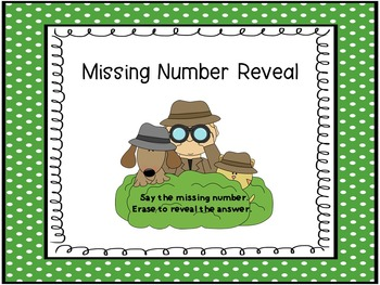 Missing Number Reveal (Numbers 0-20)  SMART Board