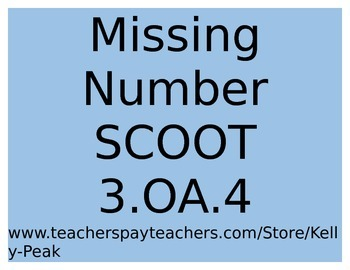 Missing Number SCOOT - 3.OA.4