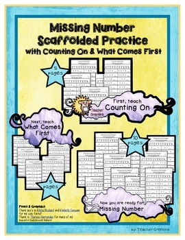 Missing Number Scaffolded Practice with Counting On and What Comes First