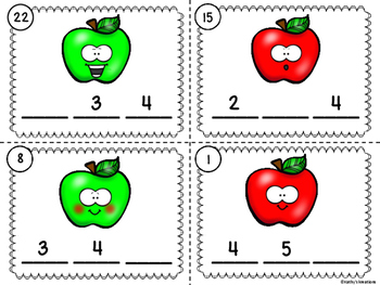 Missing Number Scoot Apple Theme (Numbers Up To 20) With And Without QR Codes