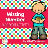 Missing Number Scoot Math Activity Kindergarten First