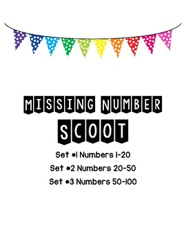 Missing Number Scoot with Number Lines (Differentiated)