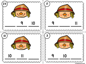 Missing Number Scoot Scarecrows (Numbers Up To 20) With And Without QR Codes
