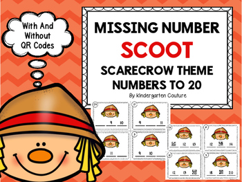 Missing Number Scoot Scarecrows (Numbers Up To 20) With An