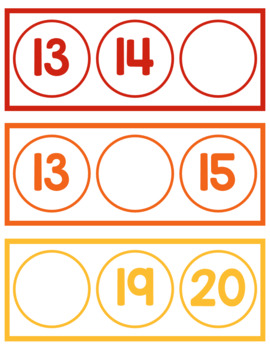 Missing Number Sequence Cards