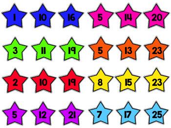 Missing Number Stars