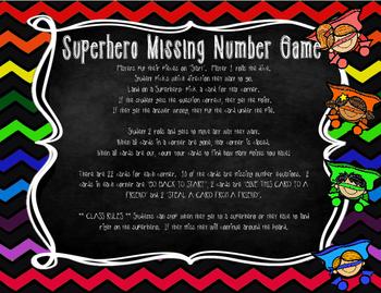 Missing Number Superheroes