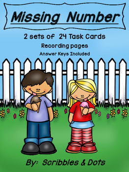Missing Number Task Card Activities