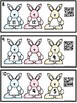 Missing Number Task Cards 1-20 Bunnies QR Code Ready