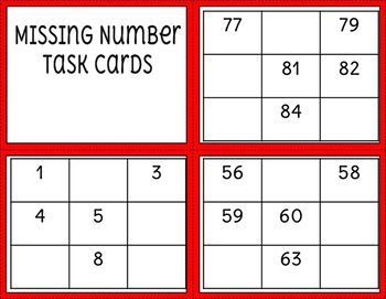 Missing Number Task Cards