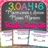Missing Number Task Cards {3.OA.4 & 3.OA.6}