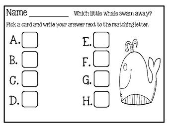 Missing Number ~ Which Little Whale Swam Away?