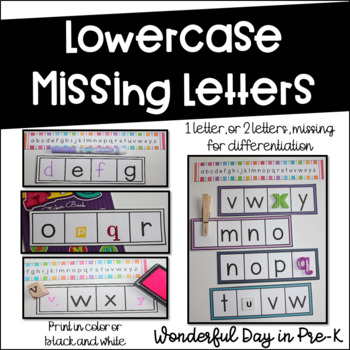 Missing Numbers and Letters Bundle