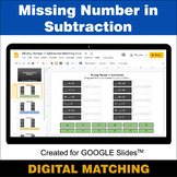 Missing Number in Subtraction - Google Slides - Distance L