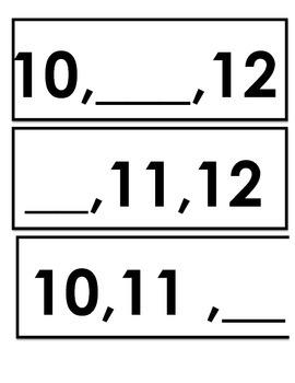 Missing Number -  0-13 (math center)