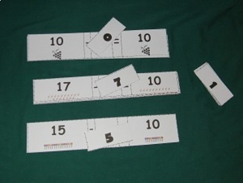 Missing Number subtraction sentences to 10-math center-file folder game