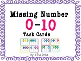 Missing Numbers 0-10 Task Cards