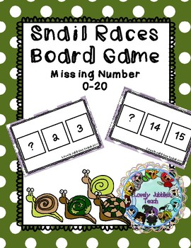 Missing Numbers 0-20: Board Game