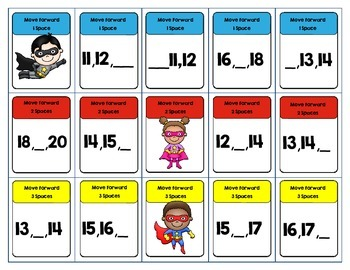 Missing Numbers 0-20 DVD Case Game SuperHero Theme