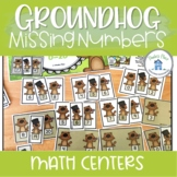 Missing Numbers 0 to 20 Groundhog Day Theme