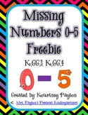 Missing Numbers 0-5 - Common Core K.CC.3, K.CC.4