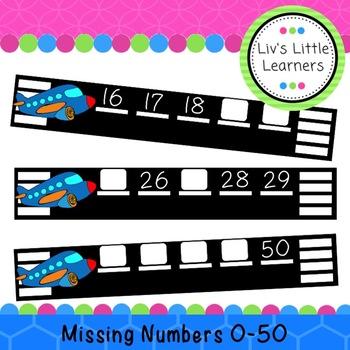 Missing Numbers 0-50 Plane Runway