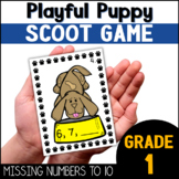 Missing Numbers 1-10 Math Scoot Game