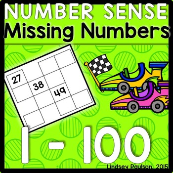 Hundreds Chart Missing Numbers
