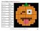 Missing Numbers 1-100 - Halloween Pumpkin Emoji Color By Number