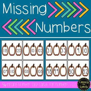 Number Sense: Missing Numbers 1-120