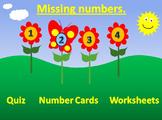 Summertime Missing Numbers 1 - 20