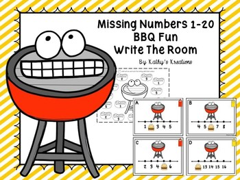 Missing Numbers 1-20 BBQ Fun