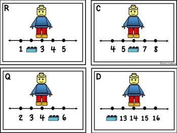 Missing Numbers 1-20 Block Man