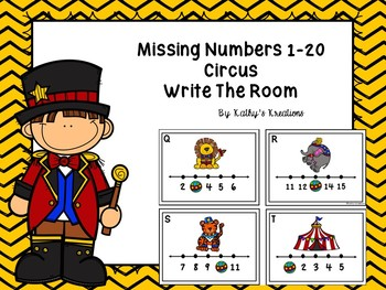 Missing Numbers 1-20 Circus