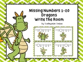 Missing Numbers 1-20 Dragons Write The Room
