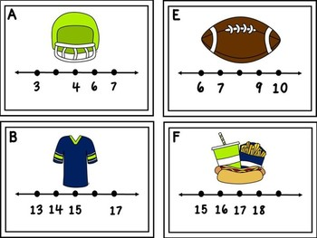 Missing Numbers 1-20 Football