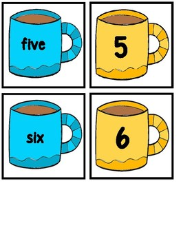 Missing Numbers 1-20 Hot Chocolate (With and Without QR Codes)