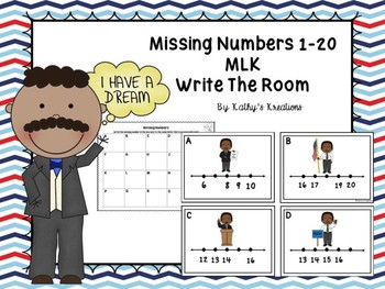 Missing Numbers 1-20 Martin Luther King Jr