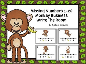 Missing Numbers 1-20 Monkey Business