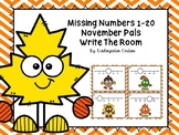 Missing Numbers 1-20 November Pals Write The Room