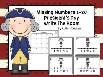 Missing Numbers 1-20 President's Day