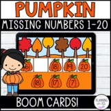 Missing Numbers 1-20 Pumpkins Boom Cards Fall Distance Learning