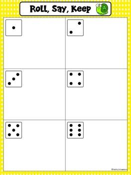 Missing Numbers 1-20 Roll, Say, Keep Shamrock Bugs